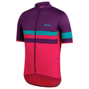 Rapha Mens Brevet Lightweight Jersey, Dark Purple buy online at Woolys wheels with free delivery
