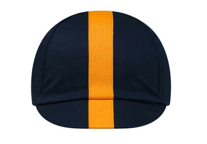 Rapha Cap II Unisex, Dark Navy/Yellow