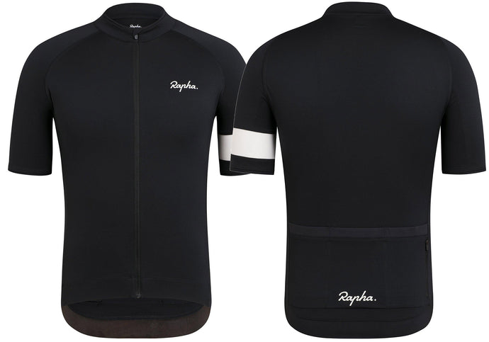 Rapha Core Mens Jersey, Black Woolys Wheels Sydney