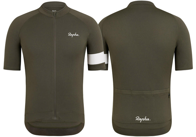 Rapha Core Mens Jersey, Dark Green Woolys Wheels Sydney Paddington