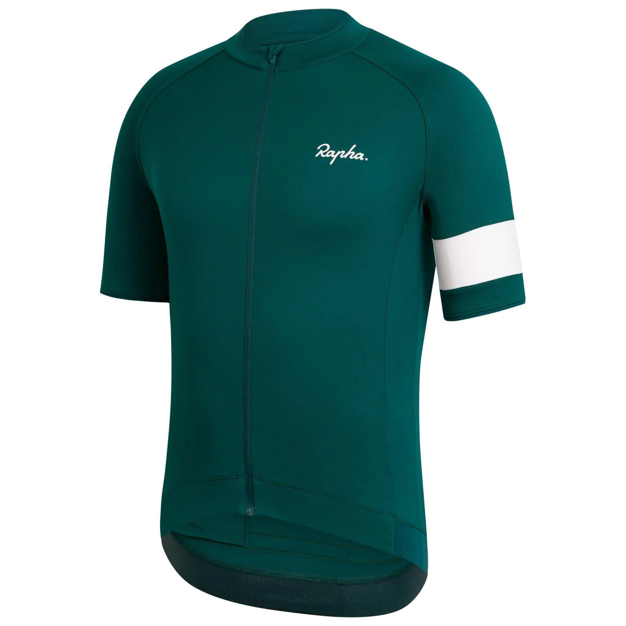 Rapha Core Mens Jersey, Dark Green, Woolys Wheels Sydney
