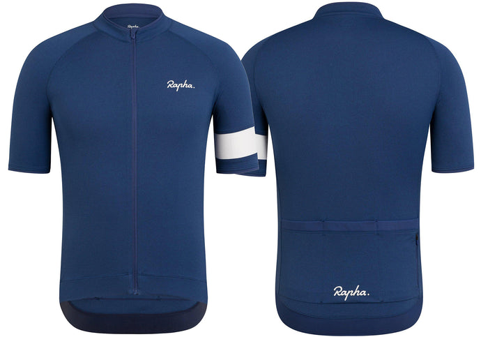 Rapha Core Mens Jersey, Navy Marle Woolys Wheels Sydney
