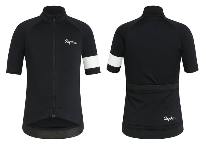 Rapha Kid's Core Jersey, Black Woolys Wheels Sydney
