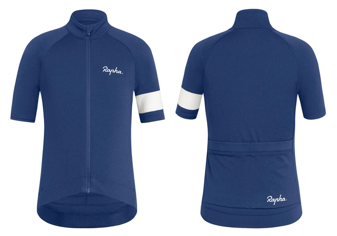 Rapha Kid's Core jersey, Navy Marle Woolys Wheels Sydney