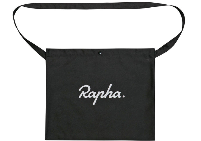 Rapha Logo Musette, Black buy at Woolys Wheels