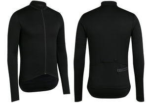 Rapha Mens Classic Long Sleeve Jersey II, Black at Woolys Wheels Bicycle Store Sydney
