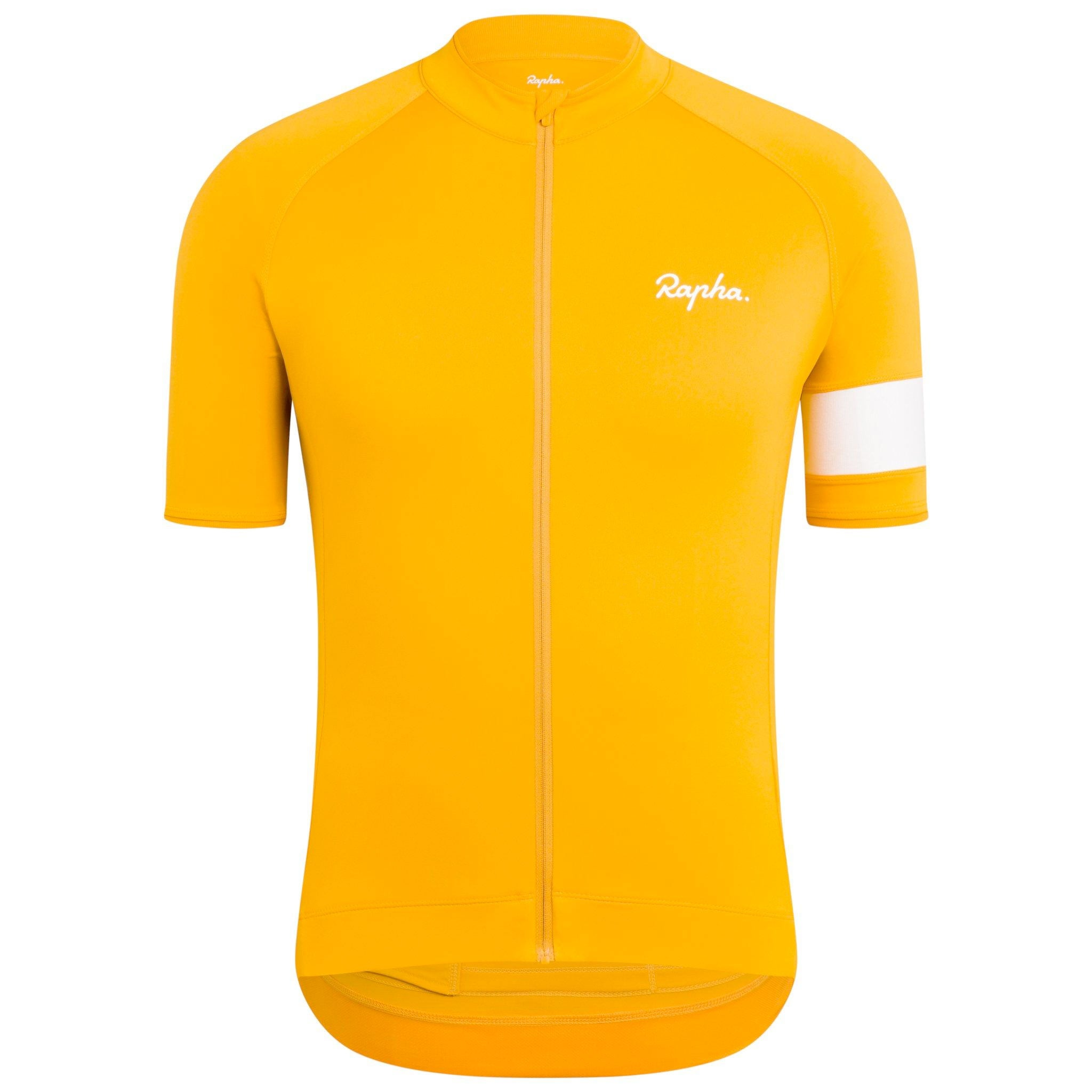 Rapha Mens Core Jersey, Yellow buy online at Woolys Wheels and receive free delivery
