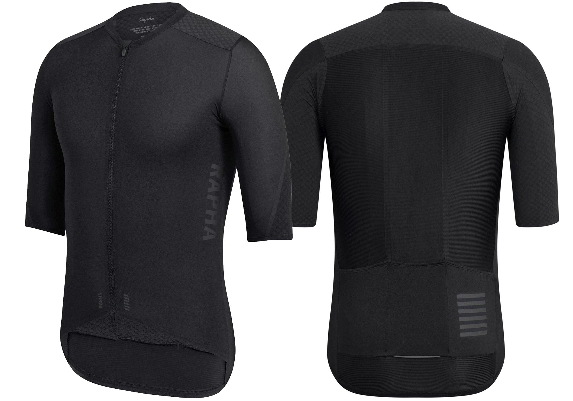 Rapha Mens Pro Team Aero Jersey, Black, Woolys Wheels Sydney