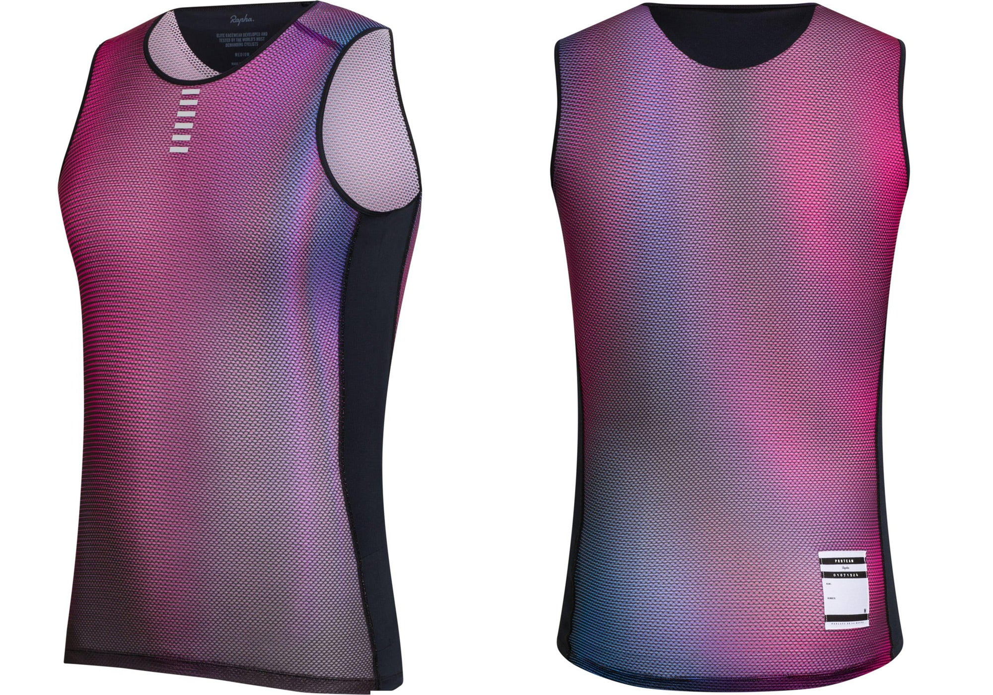 Rapha Mens Pro Team Short Sleeve Base Layer - Purple Print Flight Collection buy now at Woolys Wheels Sydney