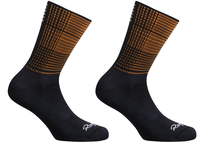 Rapha Mens Pro Team Socks, Regular, Orange Print Woolys Wheels Sydney