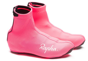 Rapha Overshoes, Hi-Viz Pink buy at Woolys Wheels Sydney