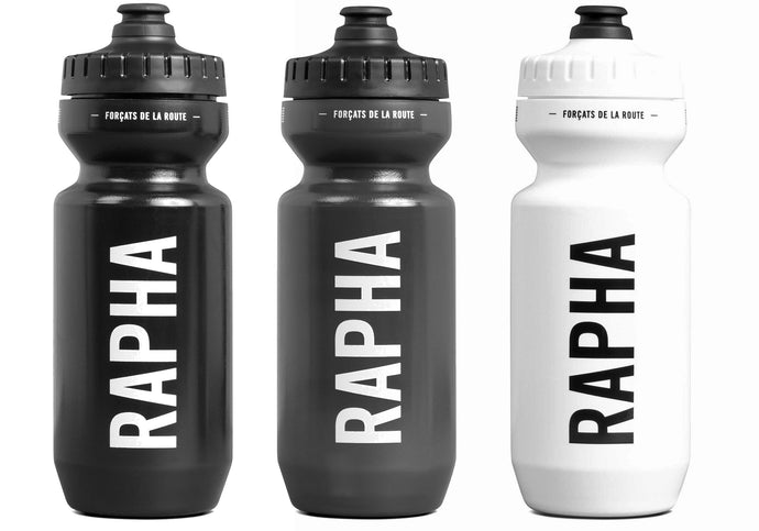 Rapha Pro Team Bidon 625ml, Black or Grey or White, Woolys Wheels Sydney
