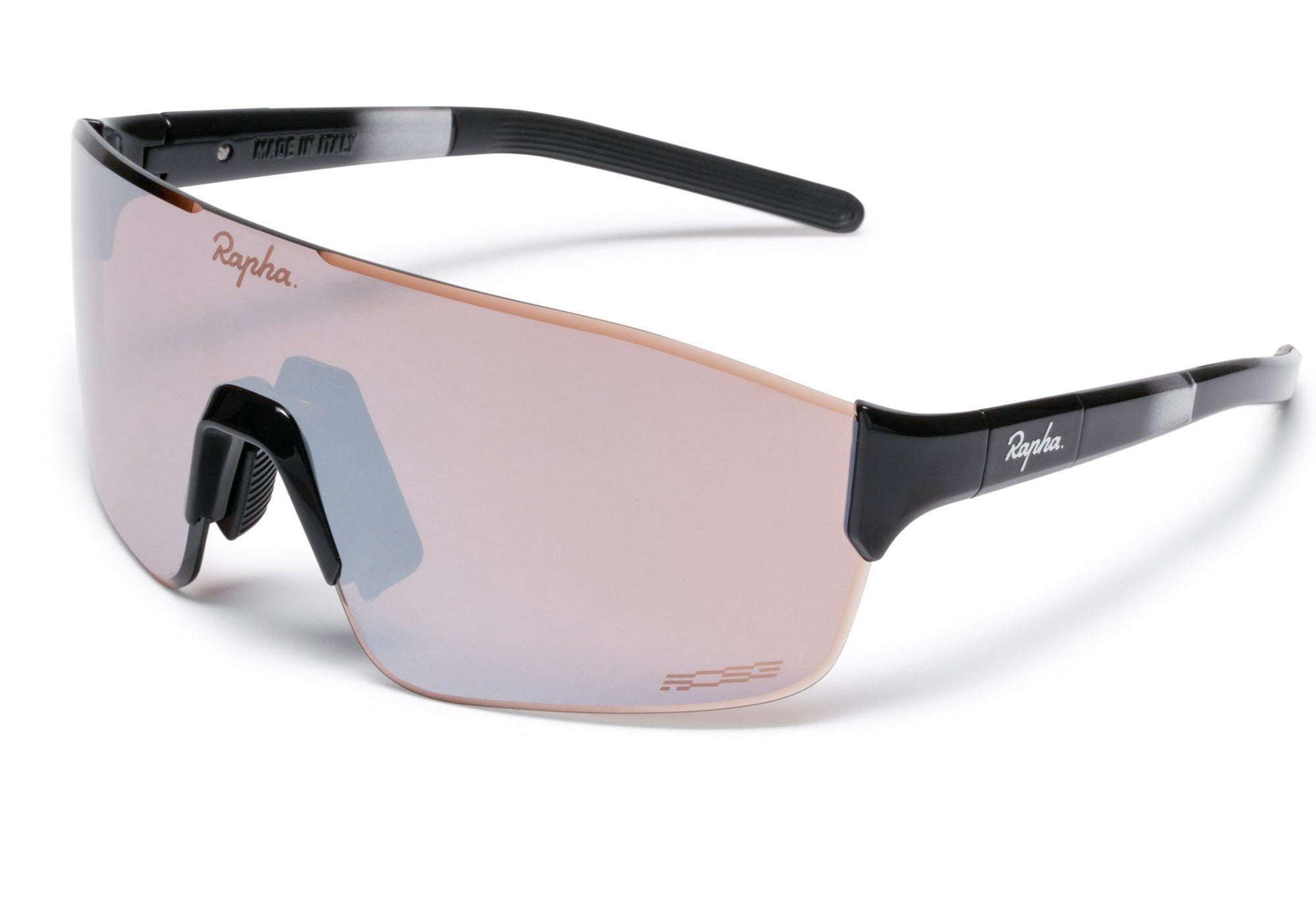 Rapha Pro Team Frameless Sunglasses Black, Mirror Black Lens Woolys Wheels Bicycle Store Sydney