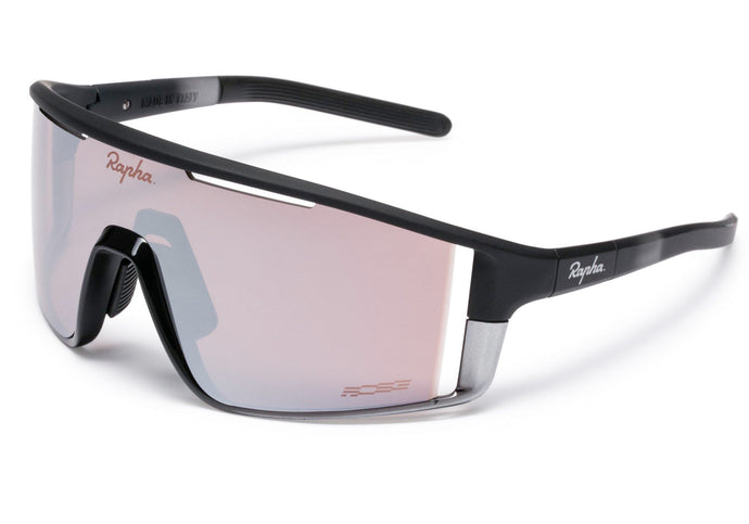 Rapha Pro Team Full Frame Sunglasses Black, Black Mirror Lens at Woolys Wheels Cyclery Sydney