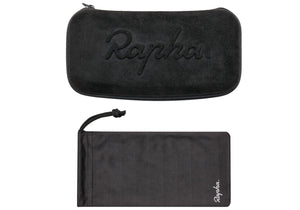 Rapha Pro Team Frameless Sunglasses Black, Mirror Black Lens