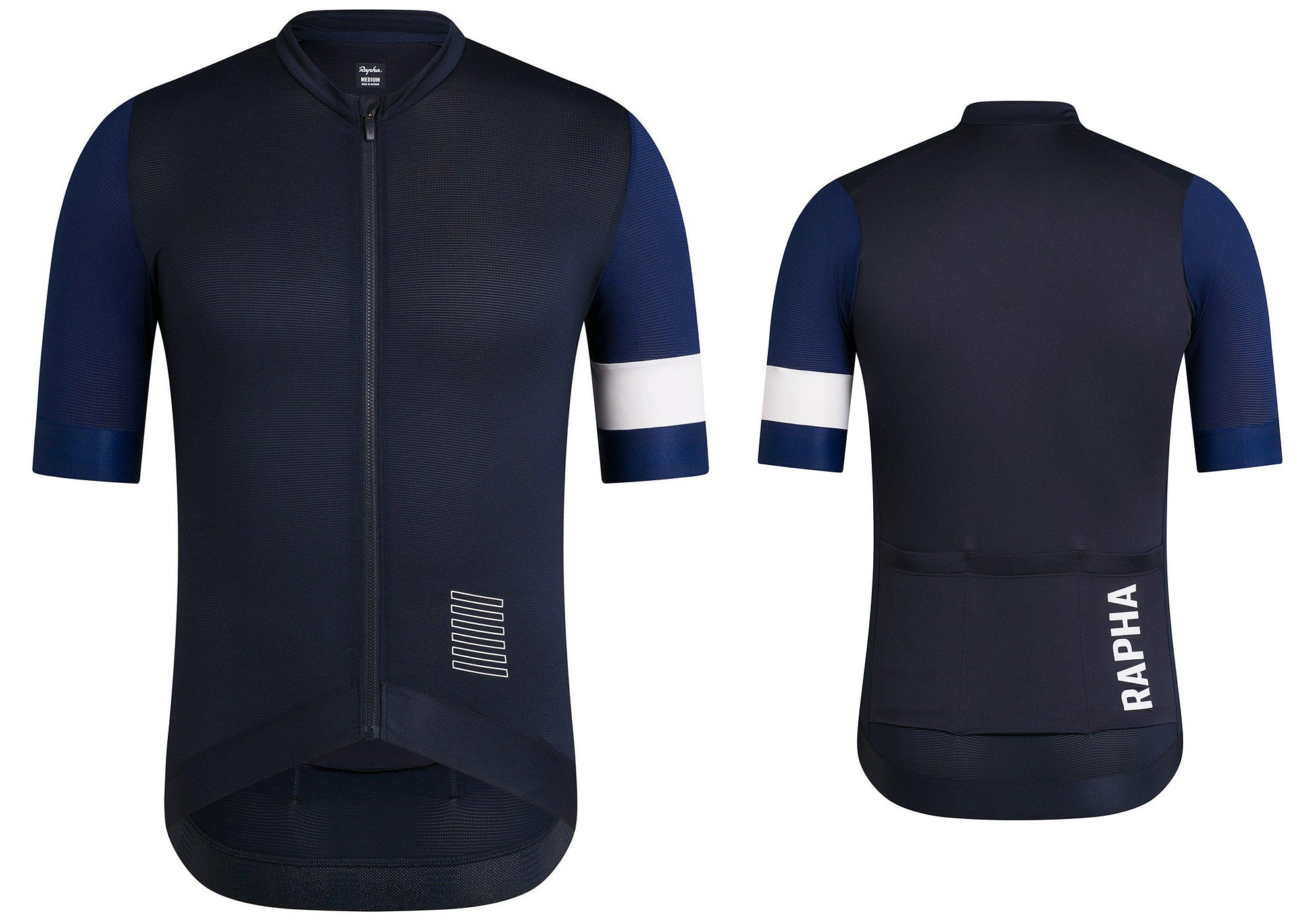 Rapha Pro Team Training Jersey, Dark Navy/Navy/White, Woolys Wheels Sydney