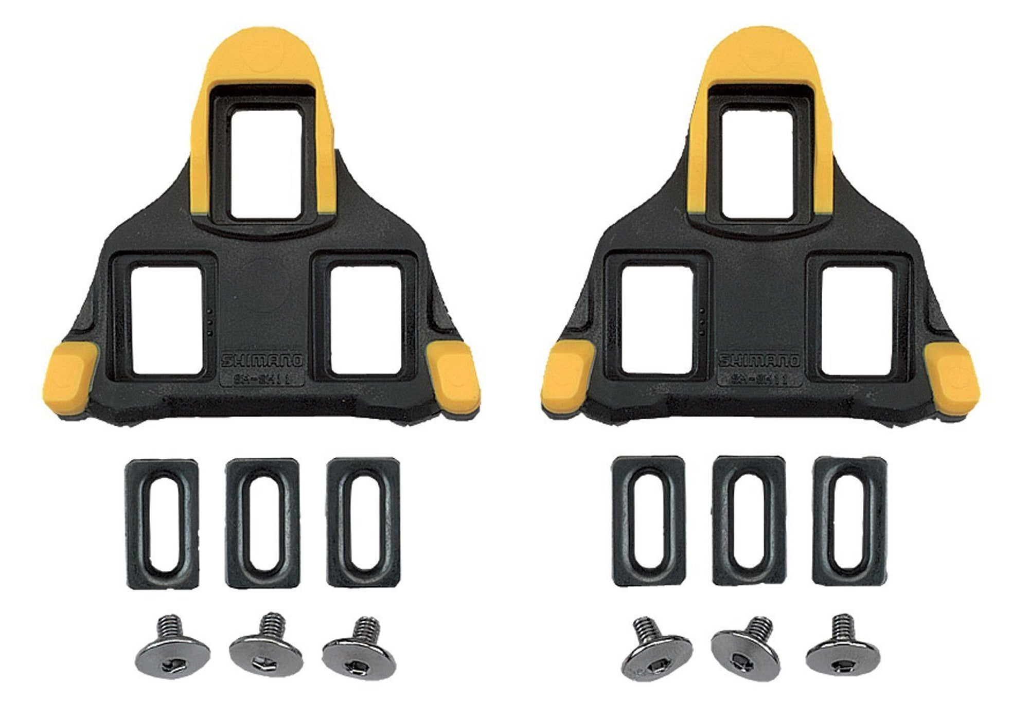 Shimano SM-SH11 SPD-SL Cleats, Yellow (Pair)