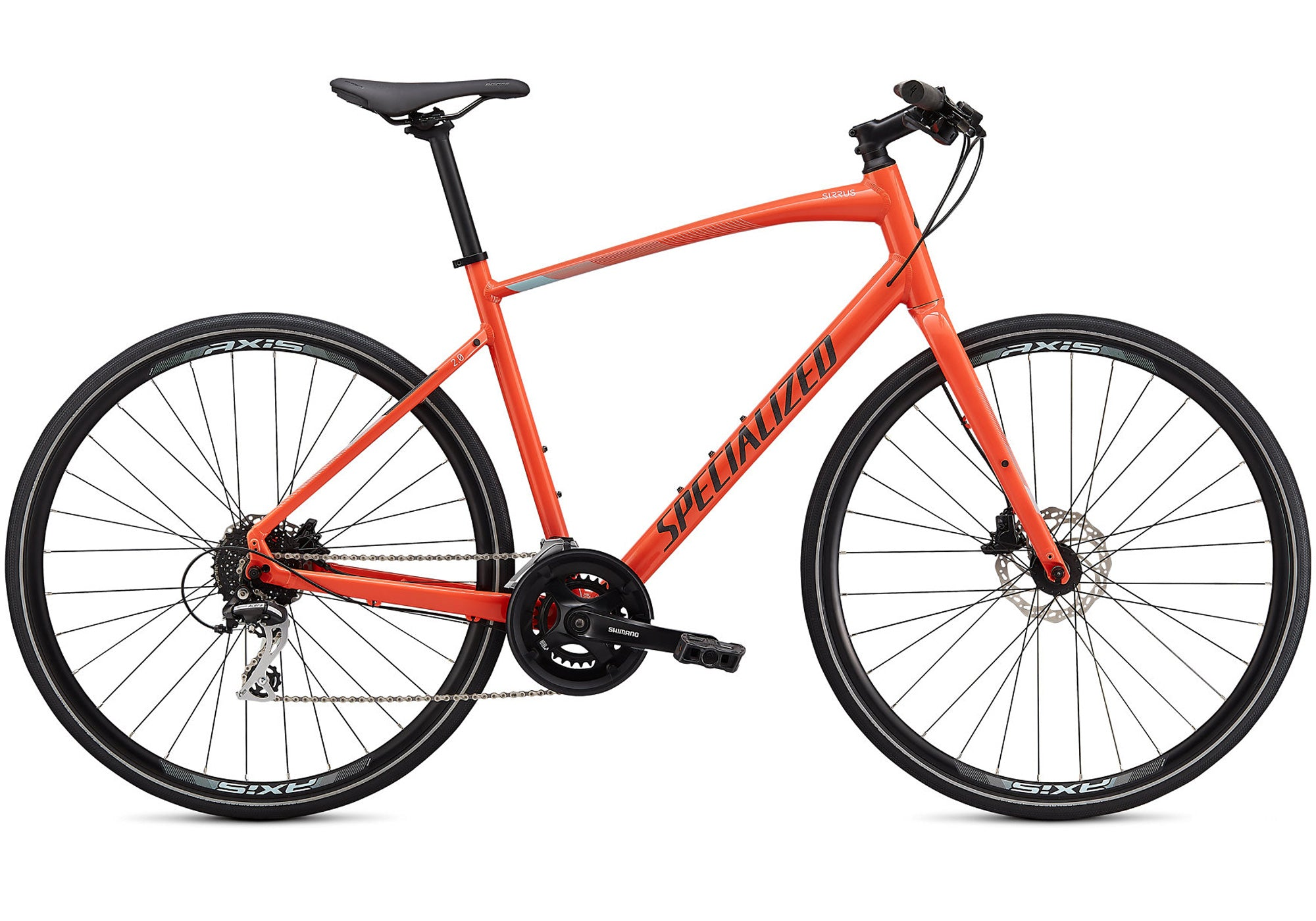 2020 Specialized Sirrus 2.0, Mens, Gloss Vivid Coral, Woolys Wheels Sydney