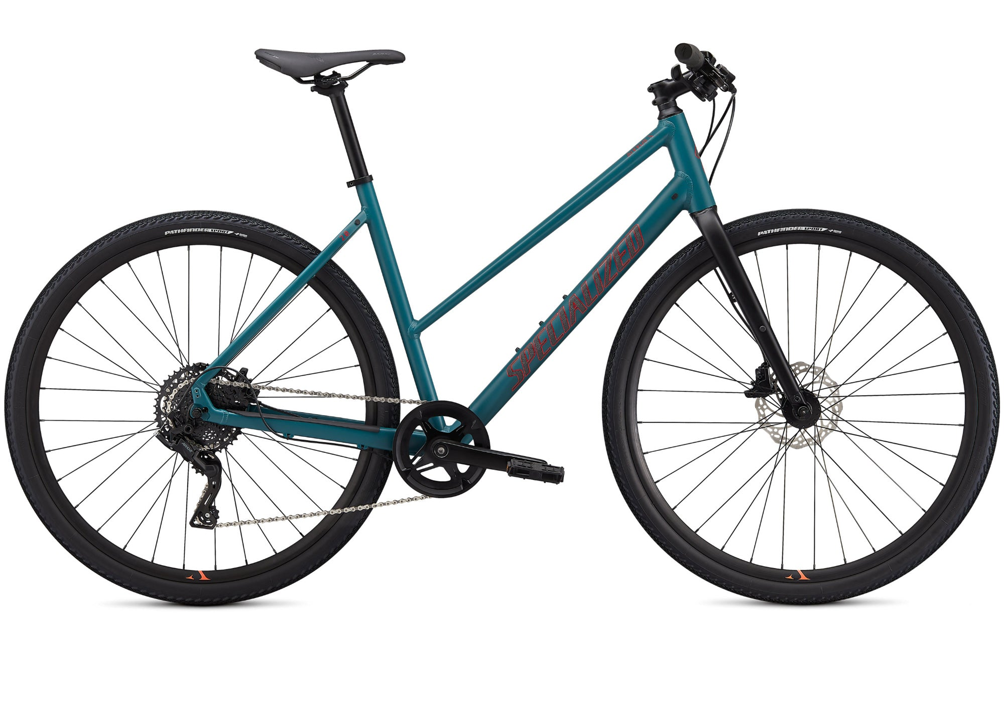 2020 Specialized Sirrus X 2.0 Step Through, Dusty Turquoise, Woolys Wheels Sydney