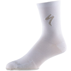 Specialized Soft Air Road Tall Socks, White, Unisex (Pair), Woolys Wheels Sydney