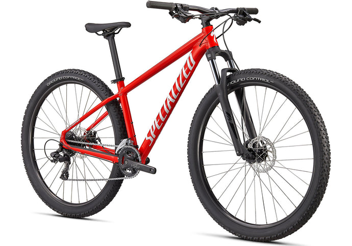 2020 Specialized Rockhopper 27.5, Gloss Flo Red Mountain Bike at Woolys Wheels Sydney