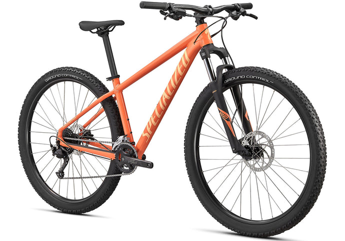 2020 Specialized Rockhopper Sport 27.5 Mountain Bike, Gloss Blaze at Woolys Wheels Sydney