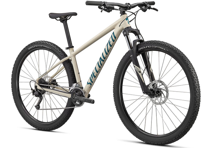 2020 Specialized Rockhopper Sport 27.5 Mountain Bike, Gloss White Mountains at Woolys Wheels Sydney