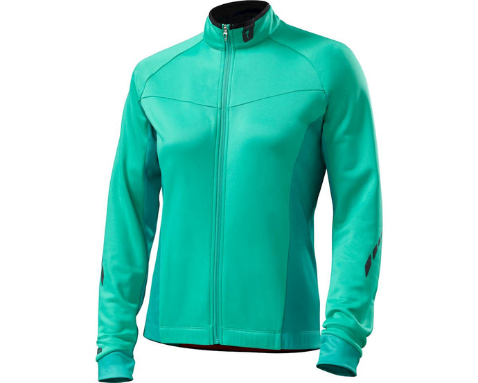 Specialized Therminal Jersey Womens Long Sleeve Emerald Green Sydney Woolys Wheels