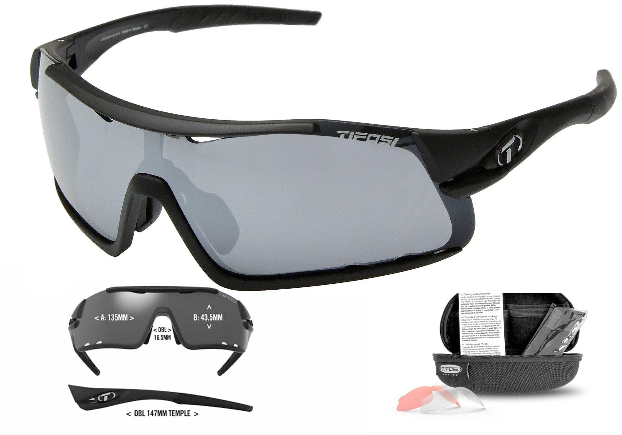 Tifosi Davos Cycling Sunglasses, Matte Black