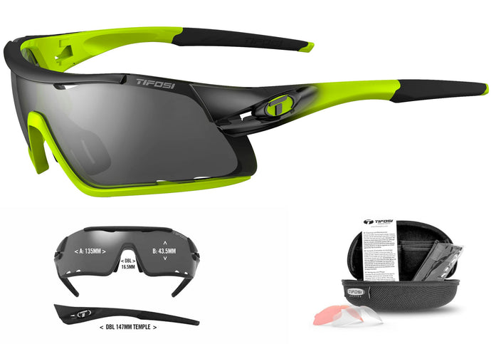 Tifosi Davos Cycling Sunglasses, Race Neon Woolys Wheels