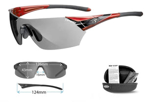 Tifosi Podium XC FotoTec Sunglasses, Metallic Red