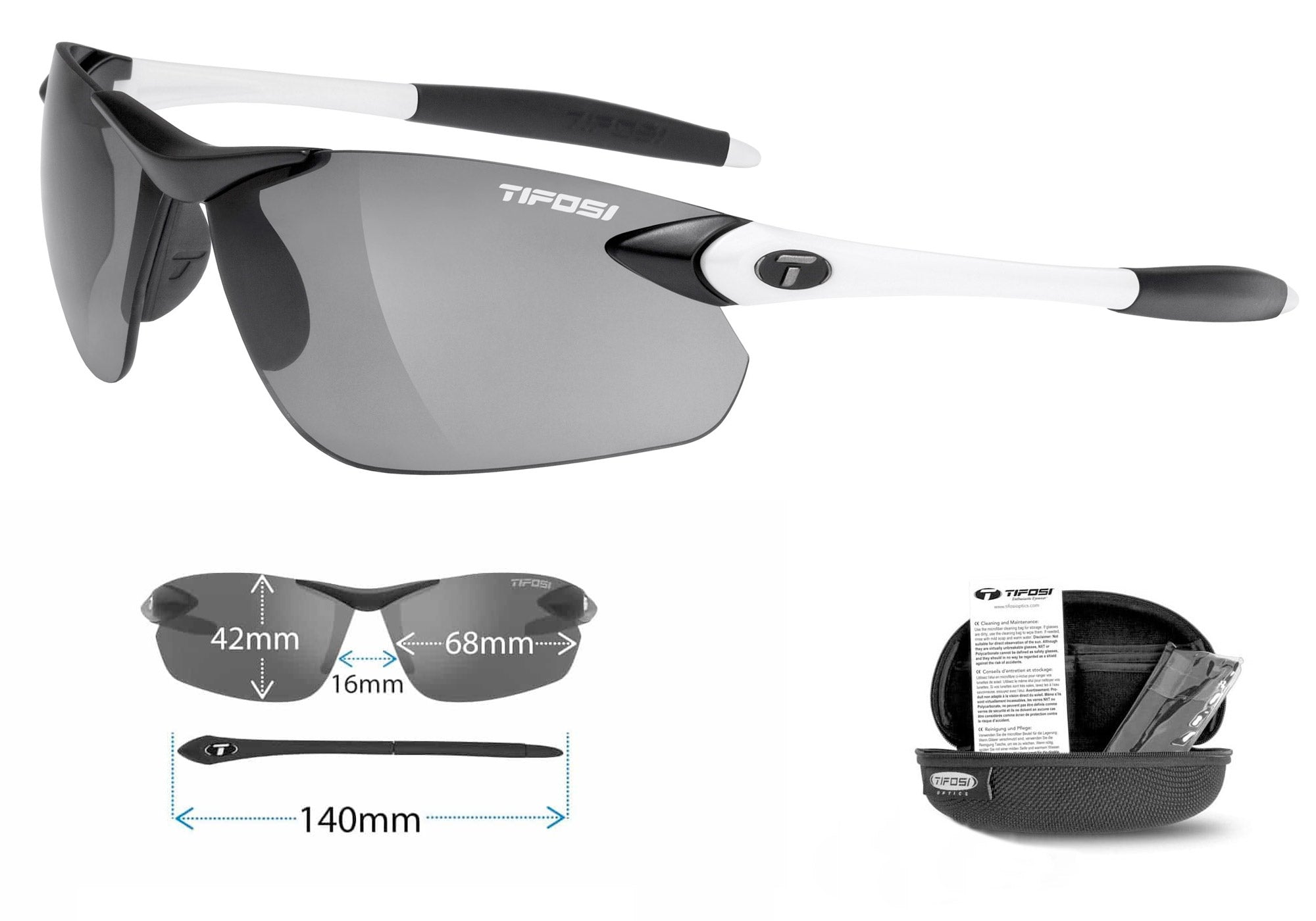 Tifosi Seek Fototec Sunglasses, White/Black Woolys Wheels Eastern Suburbs Sydney