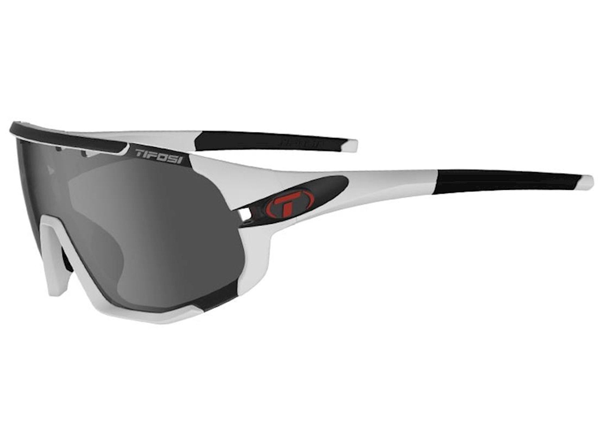Tifosi Sledge Matte White Sunglasses With 3 Interchangeable Lenses at Woolys Wheels Sydney