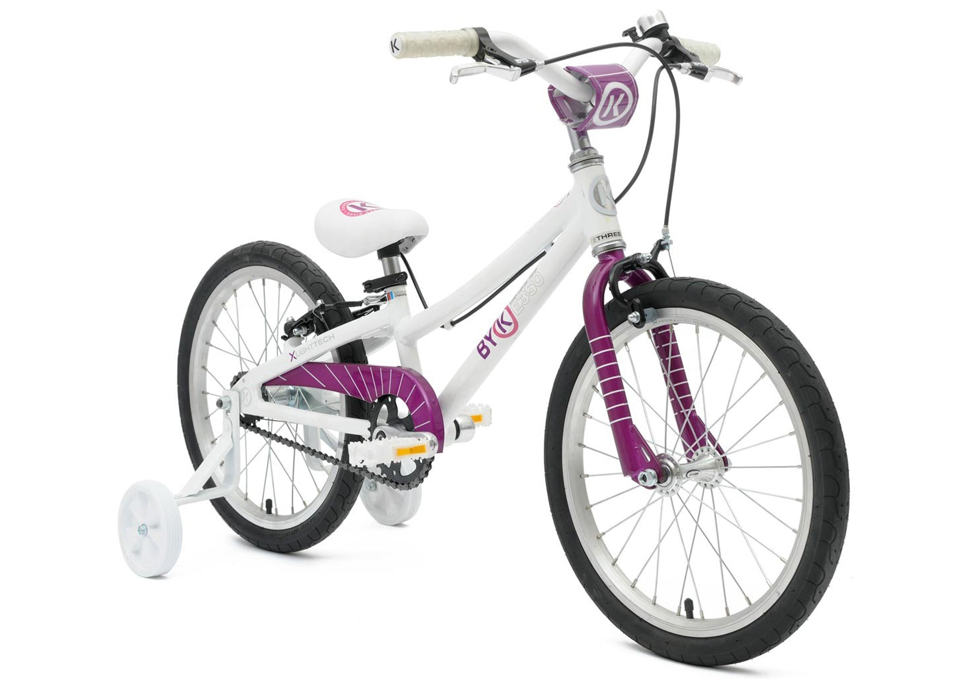 BYK E350 Girls White/Deep Violet Woolys Wheels Sydney
