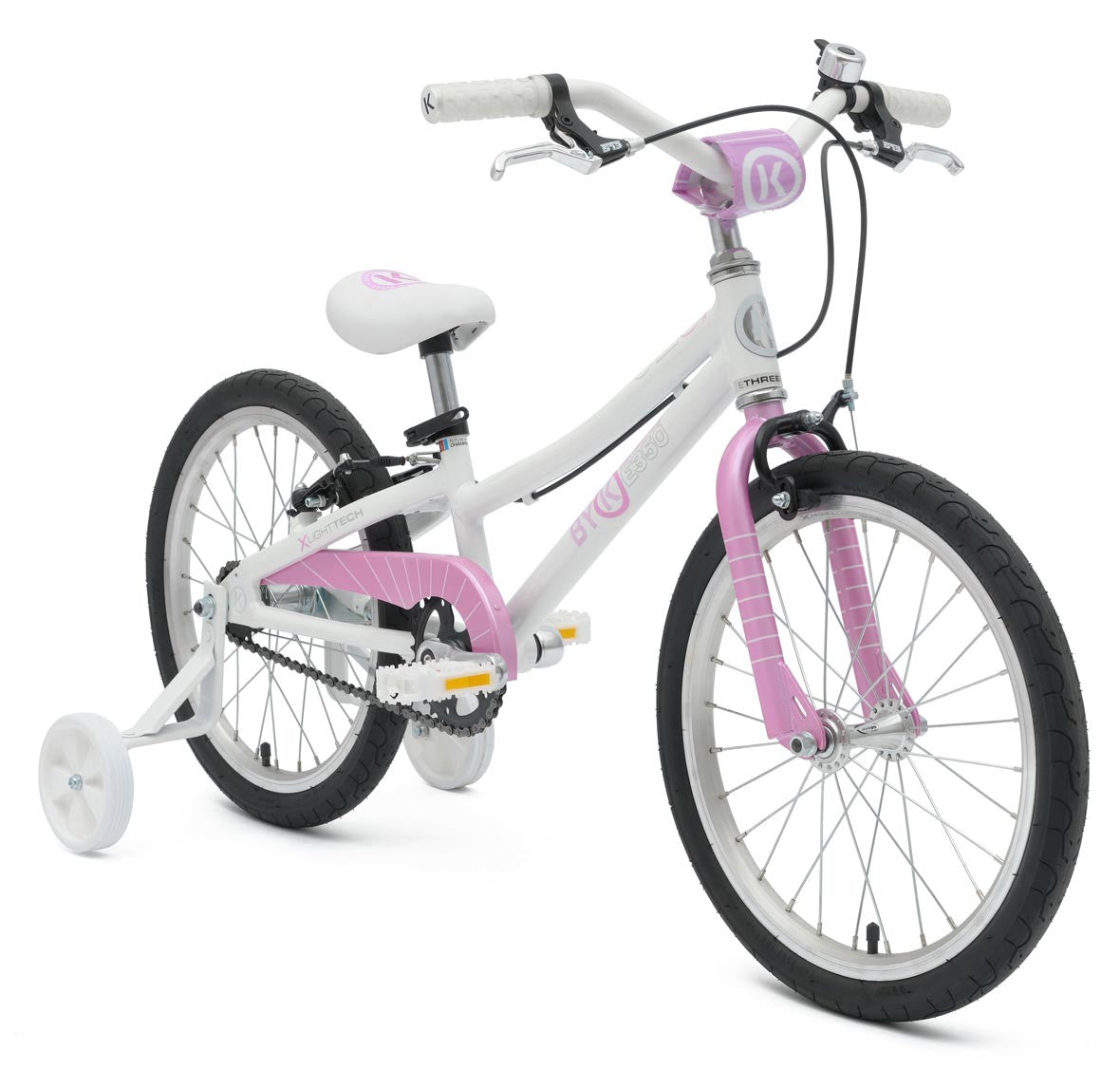 BYK E350 Girls White/Pink Woolys Wheels Sydney