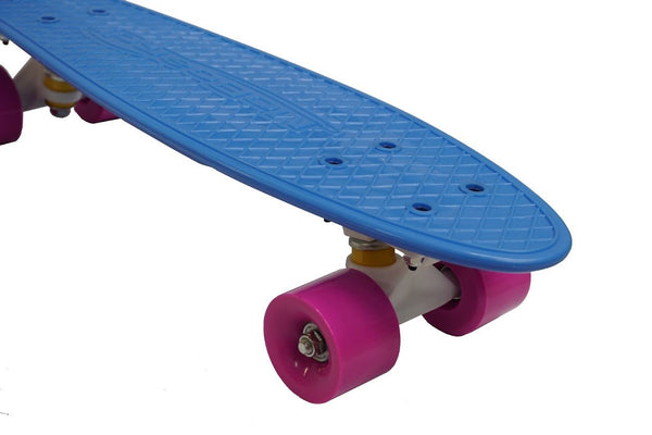 MoBoard Graphic Complete Skateboard (Light Blue / Pink)