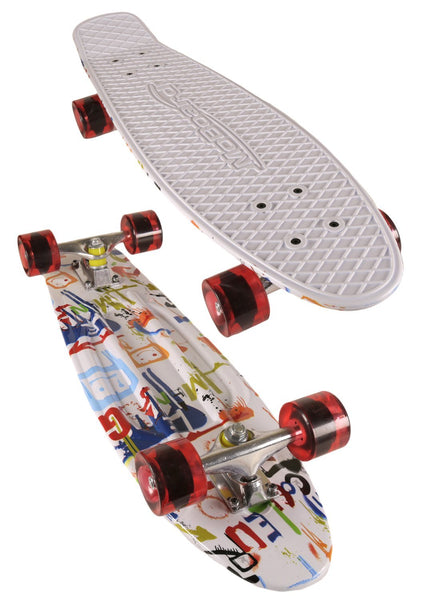 MoBoard Graphic Complete Skateboard (White / Graphic Red)