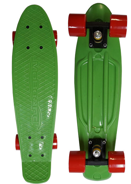 MoBoard Graphic Complete Skateboard (Green / Red)
