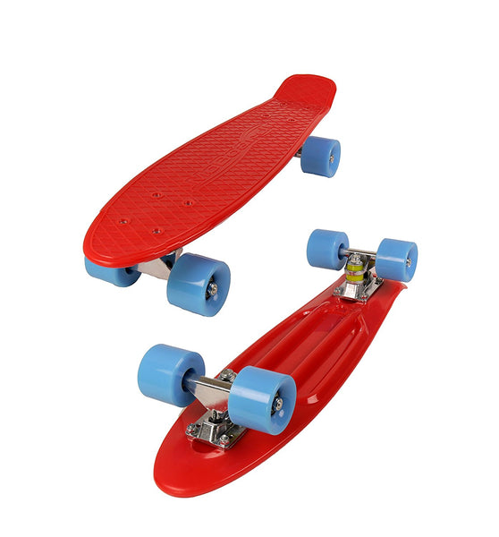 MoBoard Graphic Complete Skateboard (Red / Blue)