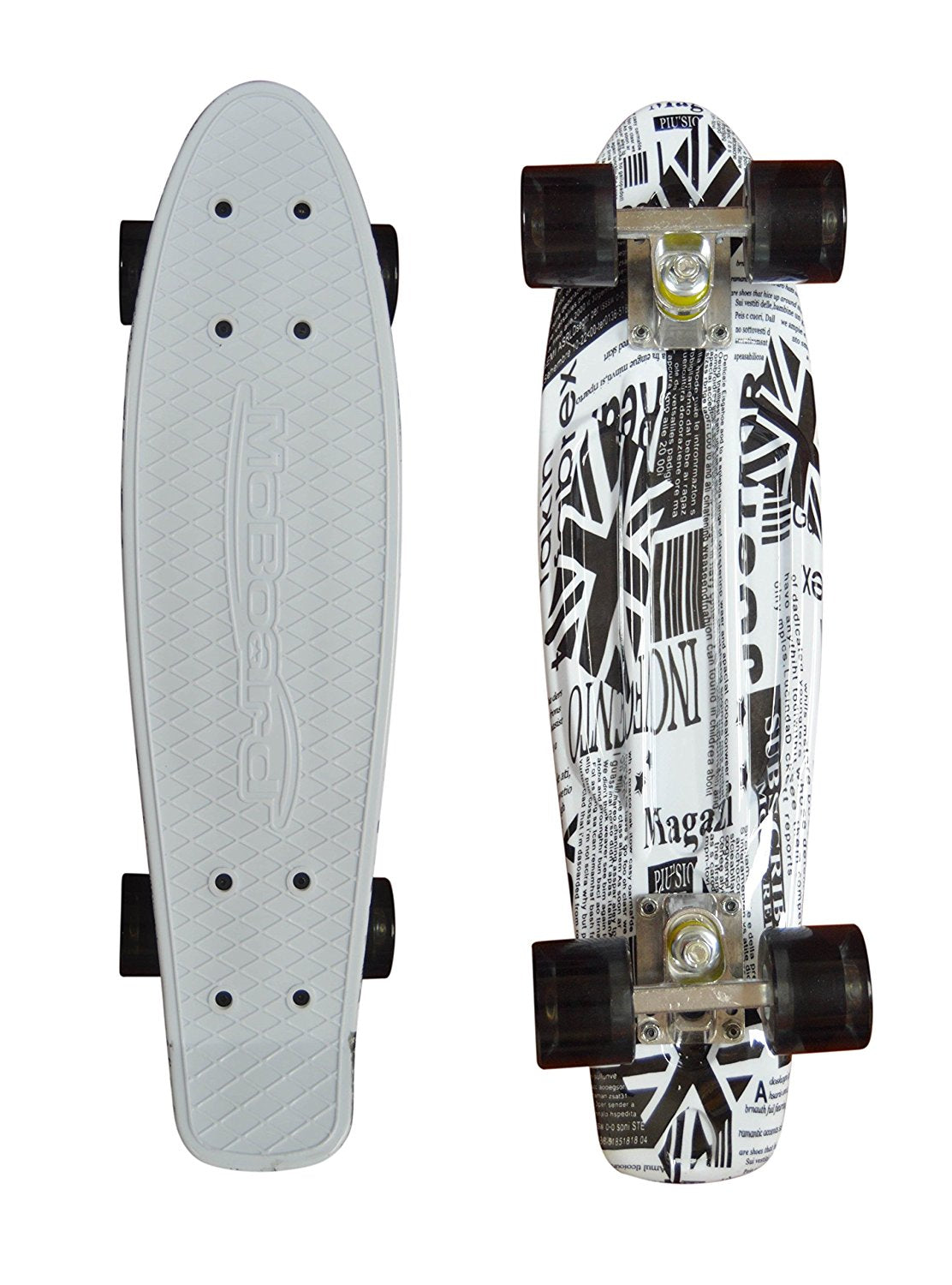 MoBoard Graphic Complete Skateboard (White - Clear)