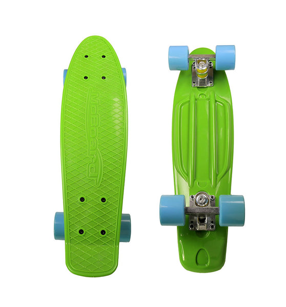 MoBoard Graphic Complete Skateboard (Green / Light Blue)