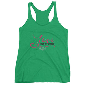 Loyalty Over Everything Women's Racerback Tank