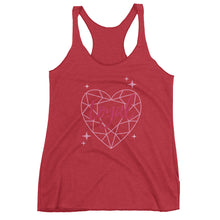 Loyal Diamond Heart Women's Racerback Tank