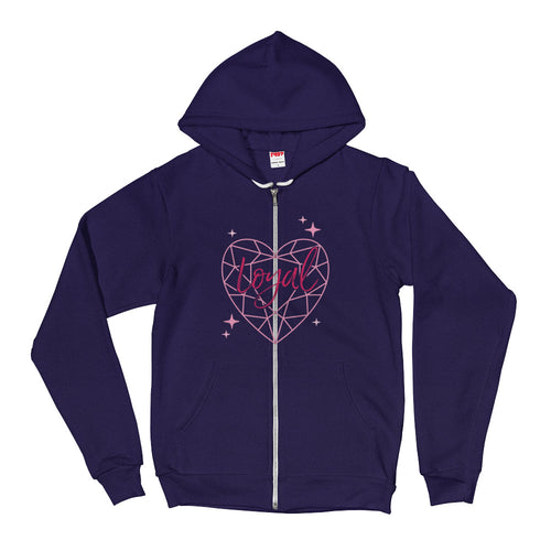Loyal Diamond Heart Zip Hoodie Sweater