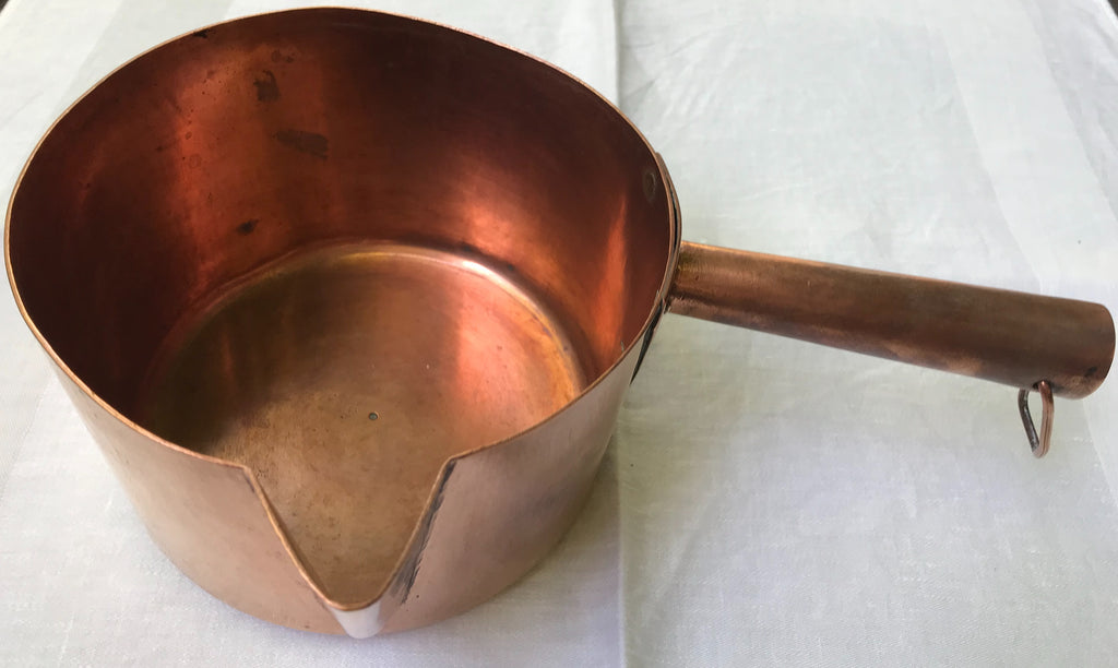 French Vintage Copper Saucepan