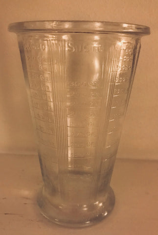 Vintage French Glass Measure