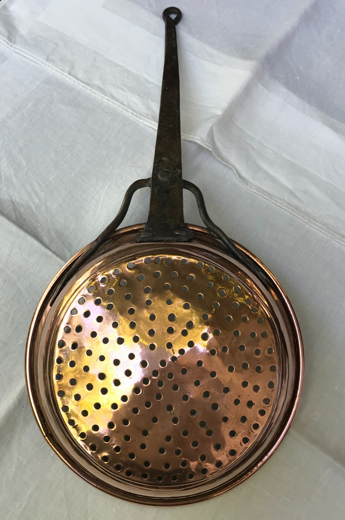 Vintage French Copper Strainer