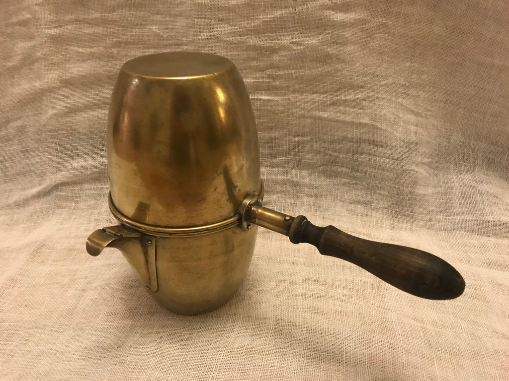 Vintage French Brass Coffee pot