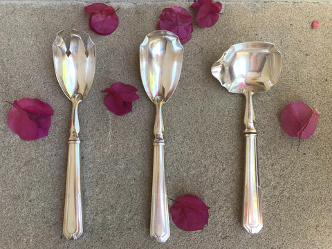 Vintage French Silver Serving Set