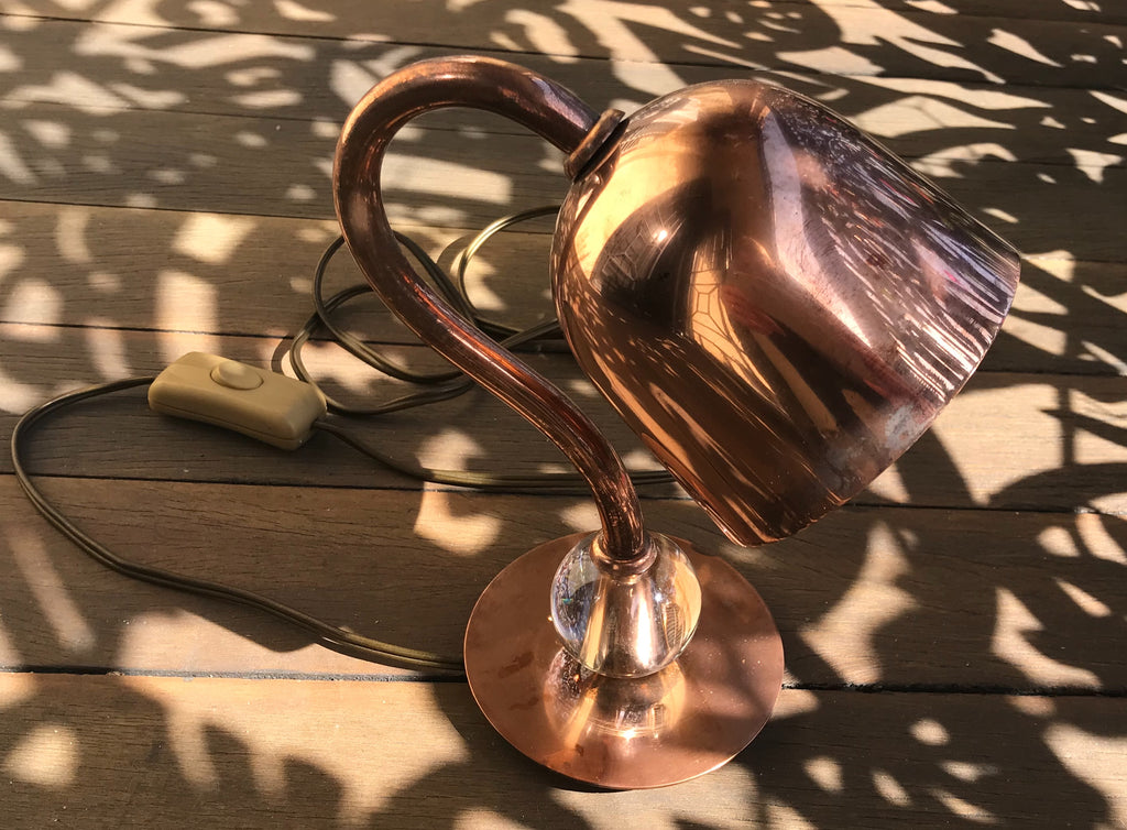 Vintage French Copper Lamp